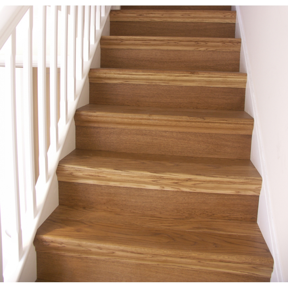 Oak overcladding stairs